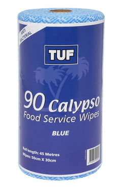 CALYPSO FOOD SERVICE WIPES 90 SHEETS PER ROLL   BLUE