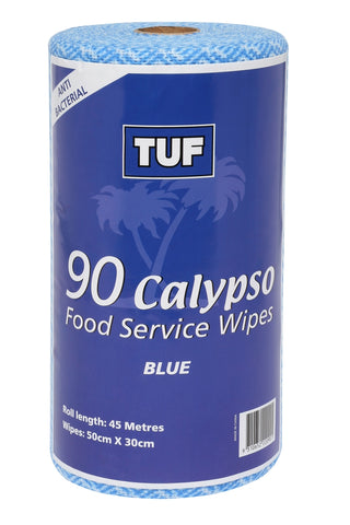 CALYPSO FOOD SERVICE WIPES 90 SHEETS PER ROLL  BLUE ED0040