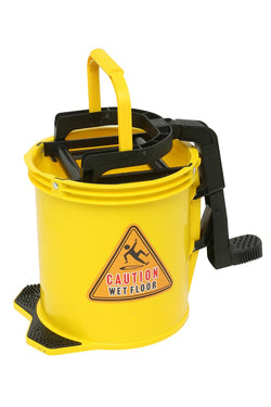BUCKET ANTI CORROSIVE NYLON HEAVY DUTY WITH RINGER  YELLOW