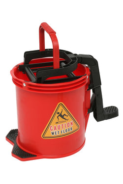 BUCKET ANTI CORROSIVE NYLON HEAVY DUTY WITH RINGER  RED