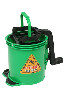 BUCKET ANTI CORROSIVE NYLON HEAVY DUTY WITH WRINGER  GREEN  ED4028