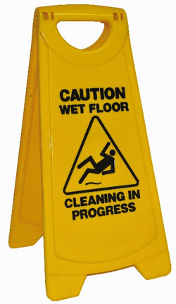 WARNING SIGN  WET FLOOR STANDARD  371 x 640