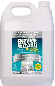 Enzyme Wizard Glass and Stainless cleaner 5 Litre  EW1301