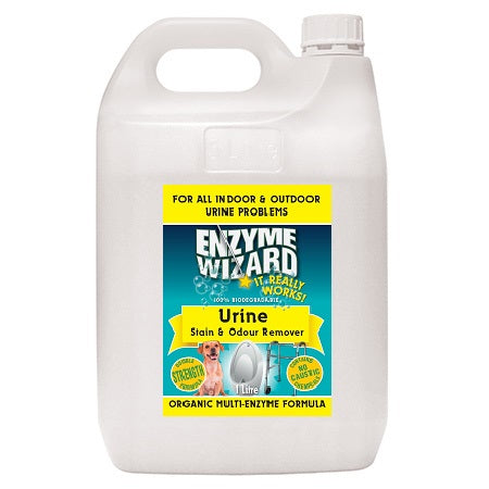 ENZYME WIZARD URINE STAIN AND ODOUR REMOVER READY TO USE  5 LITRE