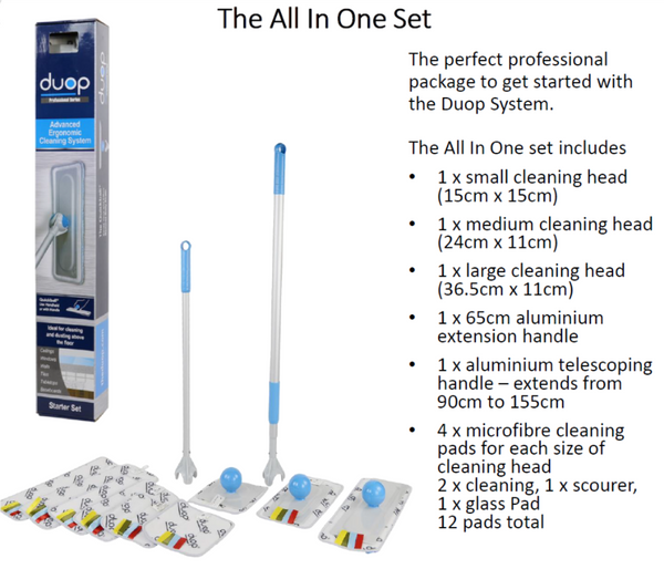 DUOP CLEANING SET WORLDS FIRST 360 DEGREE CLEANING SYSTEM