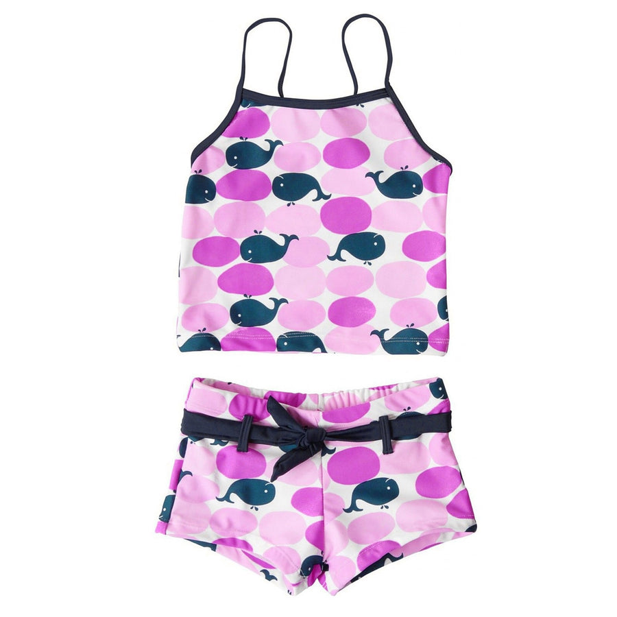 Girls whale print tankini by snapper rock