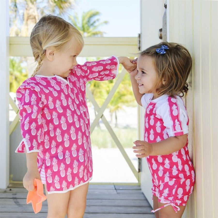 Pineapple pink uv sunsuit by snapper rock