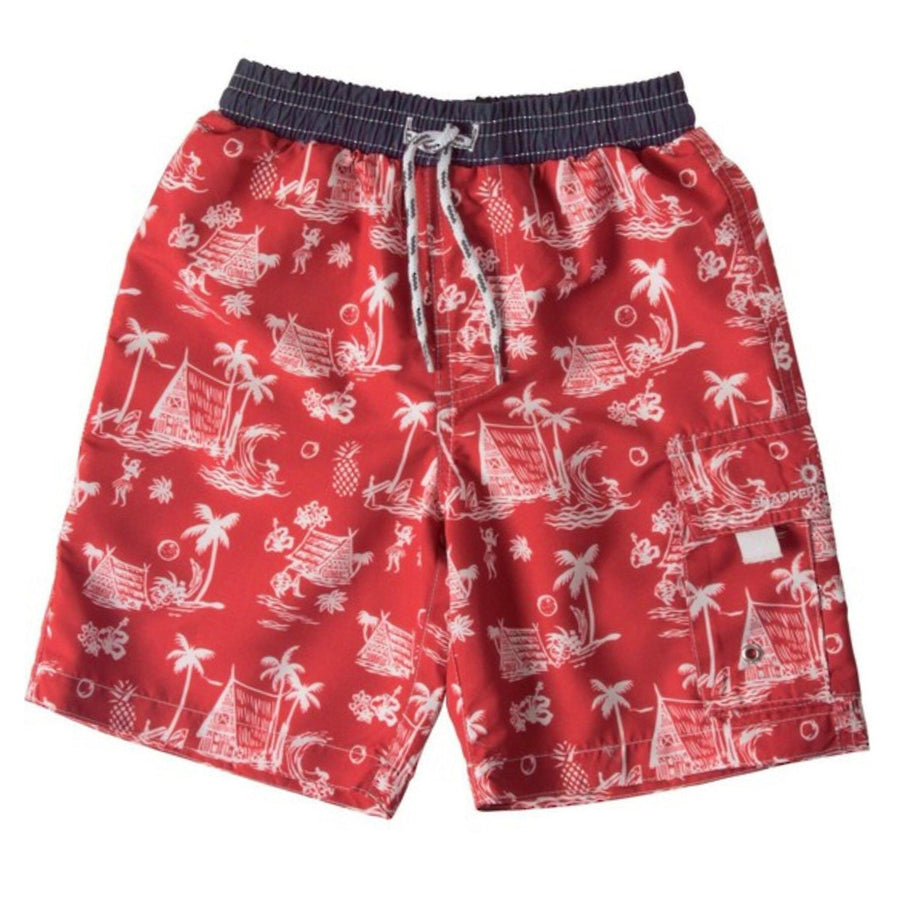 Hawaii Print Swim Shorts,Swim Shorts,SNAPPER ROCK - Snowballs and Sandcastles