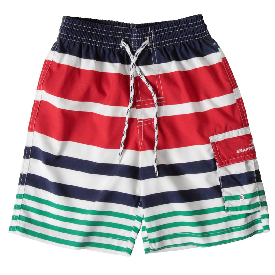 Nautical Stripe Shorts,Swim Shorts,SNAPPER ROCK - Snowballs and Sandcastles