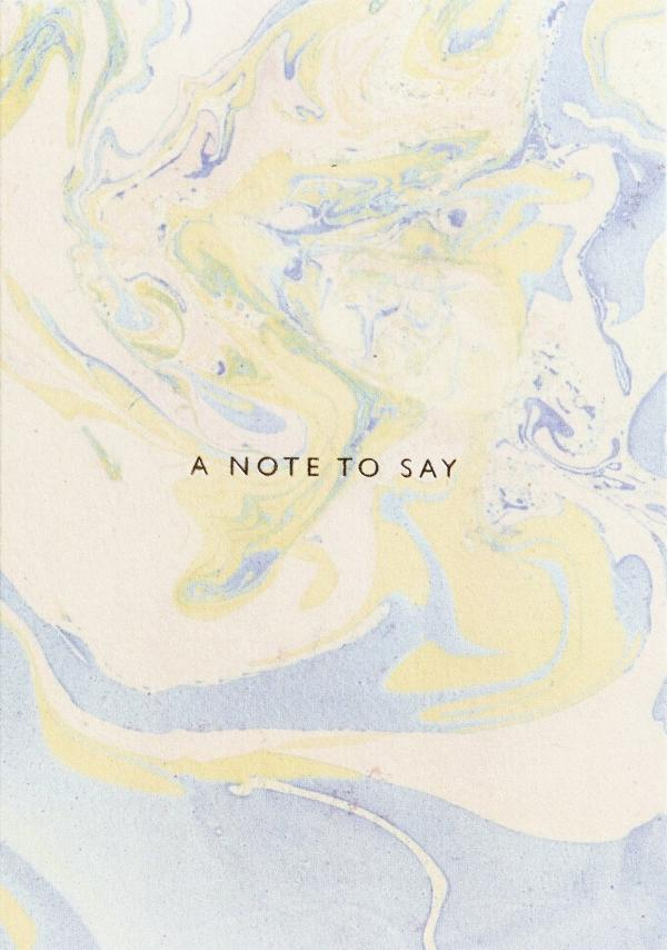 Note To Say Card