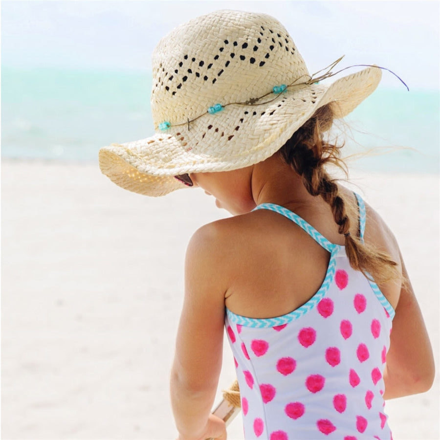 Aqua Bead Cowboy Hat,Sun Hat,Snapper Rock - Snowballs and Sandcastles