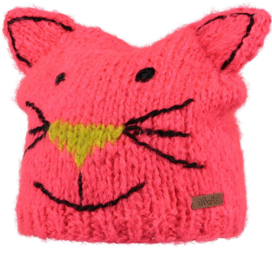 Girls Cat Beanie Hat | By Barts in Pink