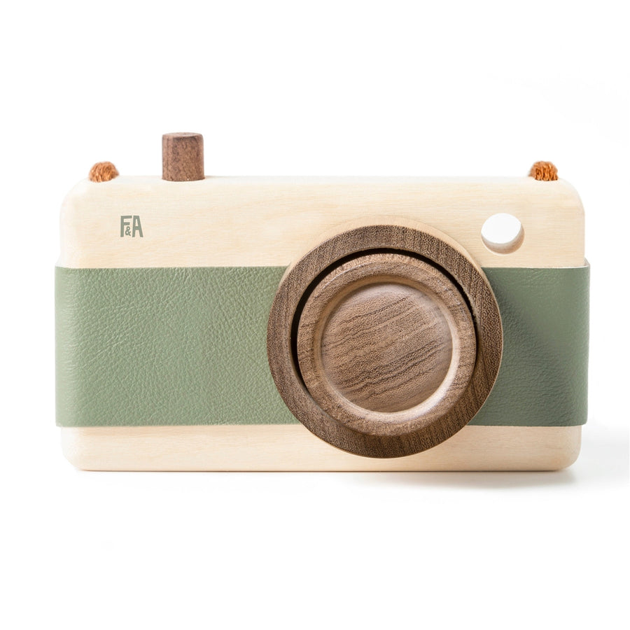 Wooden Camera Green,Wooden Camera,FANNY & ALEXANDER - Snowballs and Sandcastles