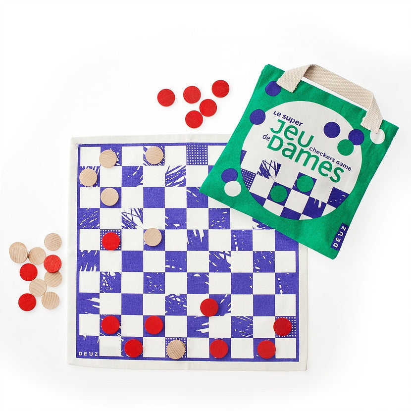 Kids Organic Checkers Game by Deuz