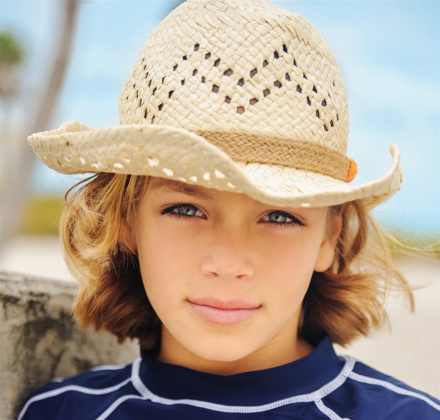 Straw Cowboy Hat,Sun Hat,Snapper Rock - Snowballs and Sandcastles
