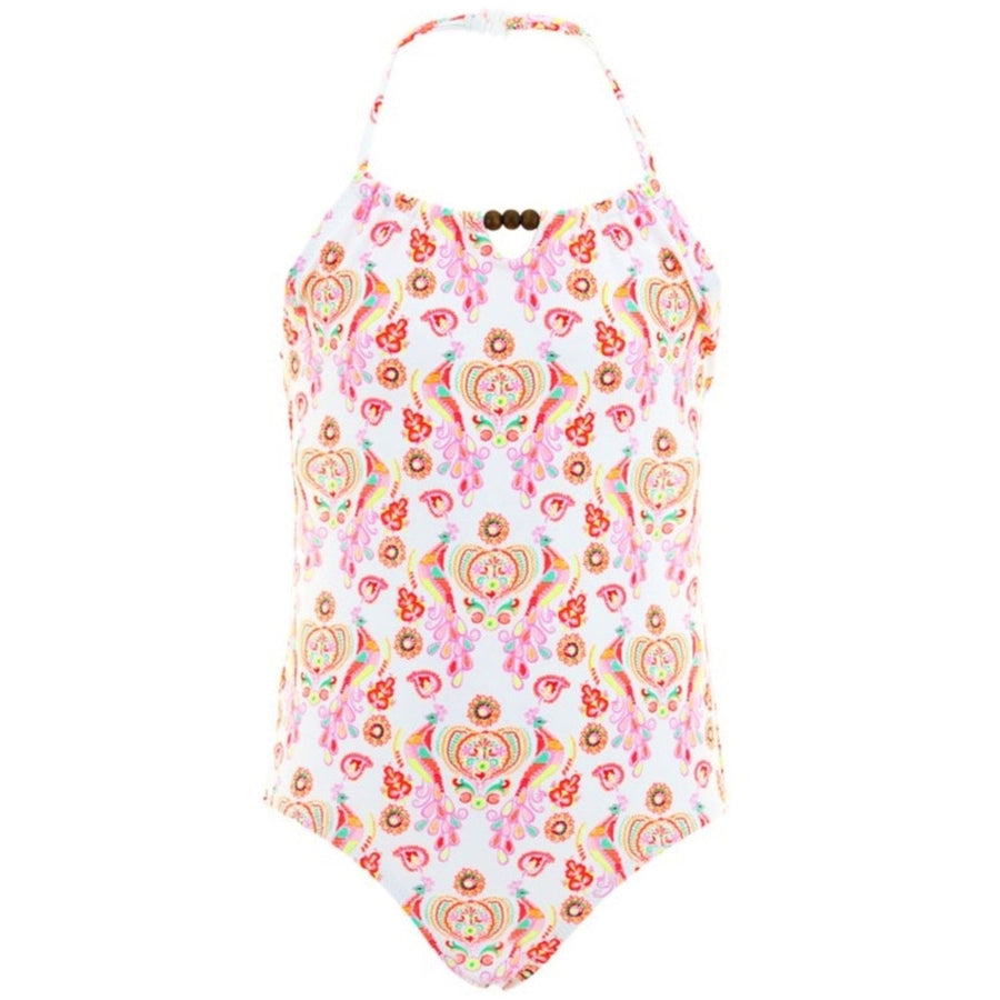 Folk Print Sunuva Swimsuit for Girls