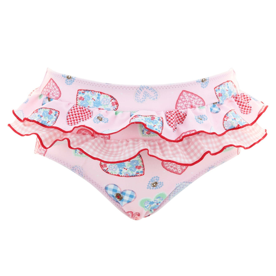 Sunuva heart print frill pants for baby girls