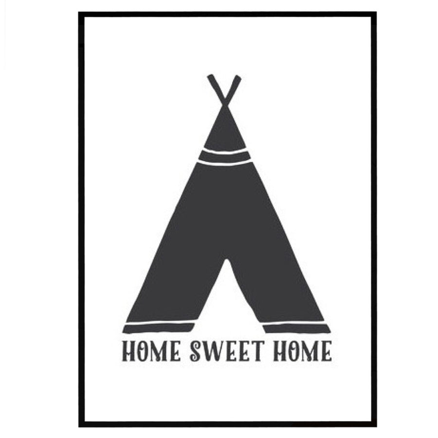 Home Sweet Home Teepee Print Gift by the Native State