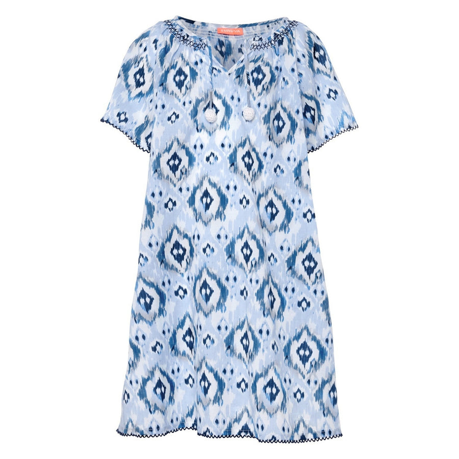 Girls Ikat Print Beach Dress by Sunuva