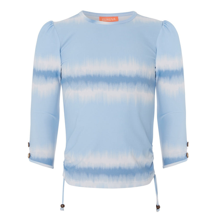 Girls blue dip dye ikat rash vest by Sunuva