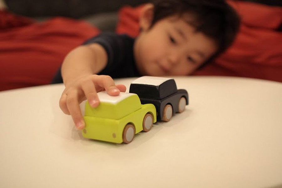 Yellow Wooden Toy Car,Wooden Car,Kukkia - Snowballs and Sandcastles