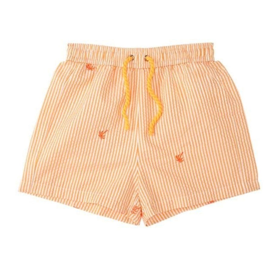 Boys Swim Shorts in Orange by Heidi Klein.