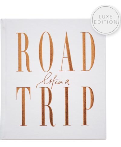 Axel and Ash Life's a Roadtrip luxury edition, leather bound travel journal