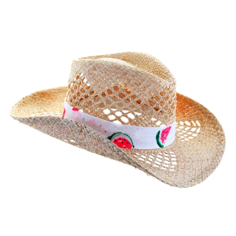 Watermelon print girls cowboy sun hat by sunuva