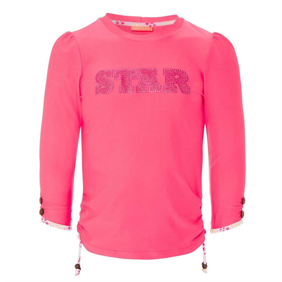 girls pop star pink rash vest by sunuva