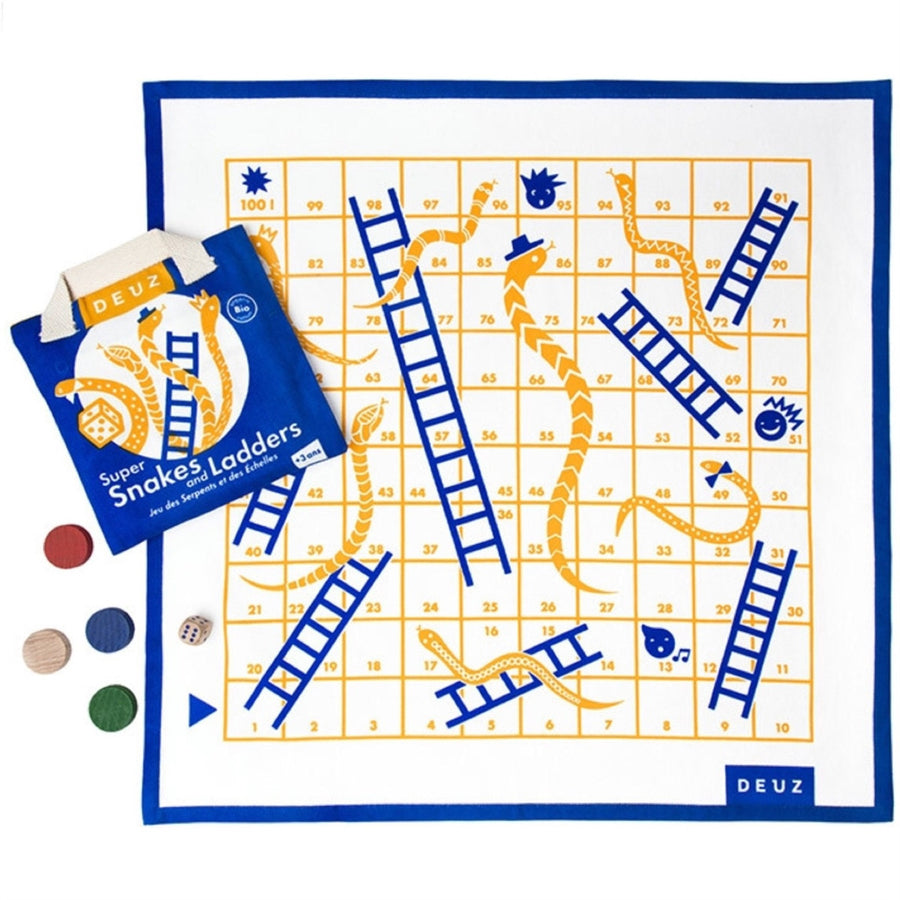 Organic Cotton Game of Snakes and Ladders by Deuz