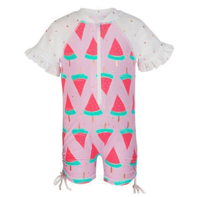 Watermelon UV sunsuit by snapper rock