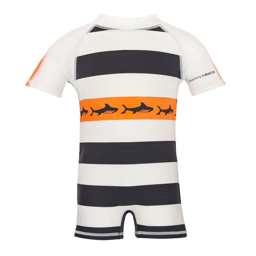 Baby Boys UV Sun Suit Shark | by Snapper Rock.