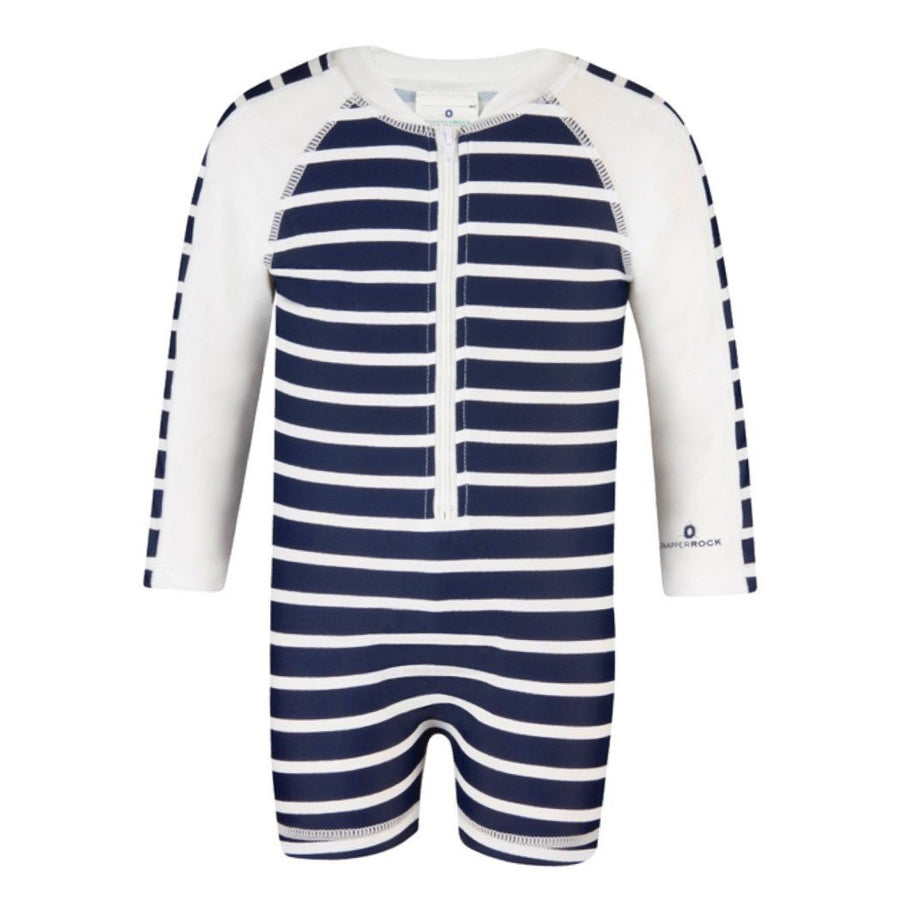 Baby Boys UV Sunsuit Stripe | by Snapper Rock.