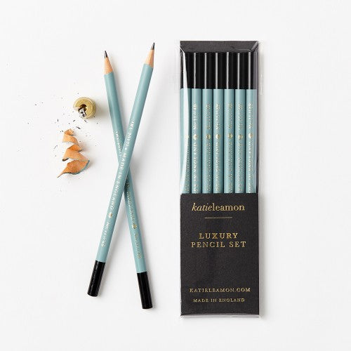 Teal Pencil Set,Stationary,Katie Leamon - Snowballs and Sandcastles
