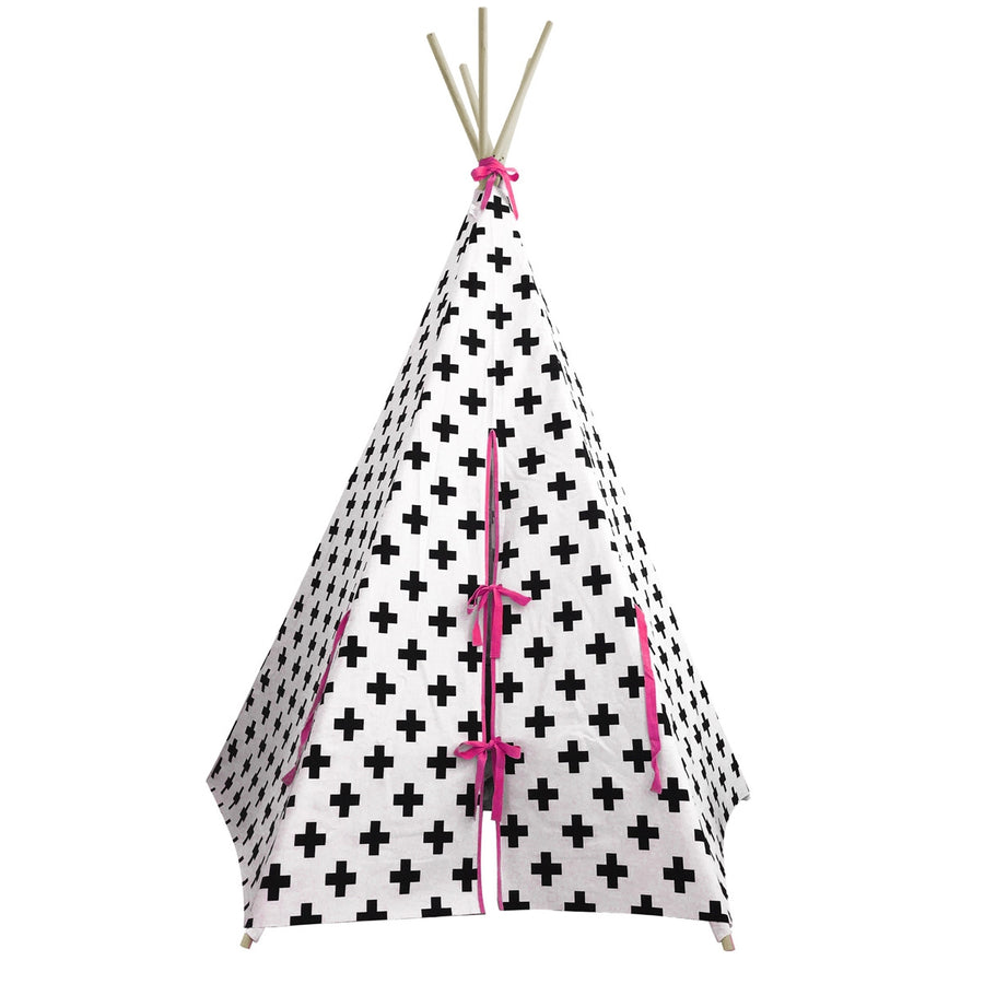 Teepee Cross with Pink Trim by Wildfire Teepees
