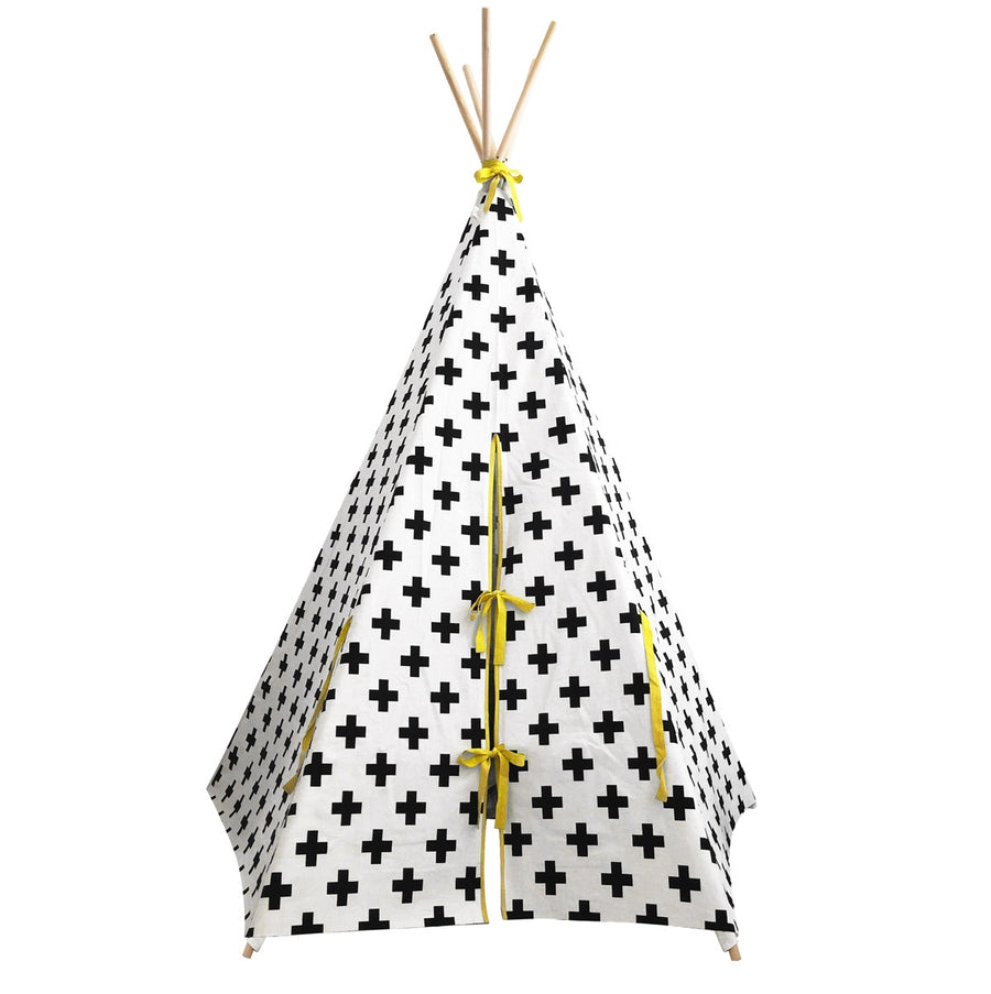 Teepee Cross with Yellow Trim by Wildfire Teepees | Shop Now