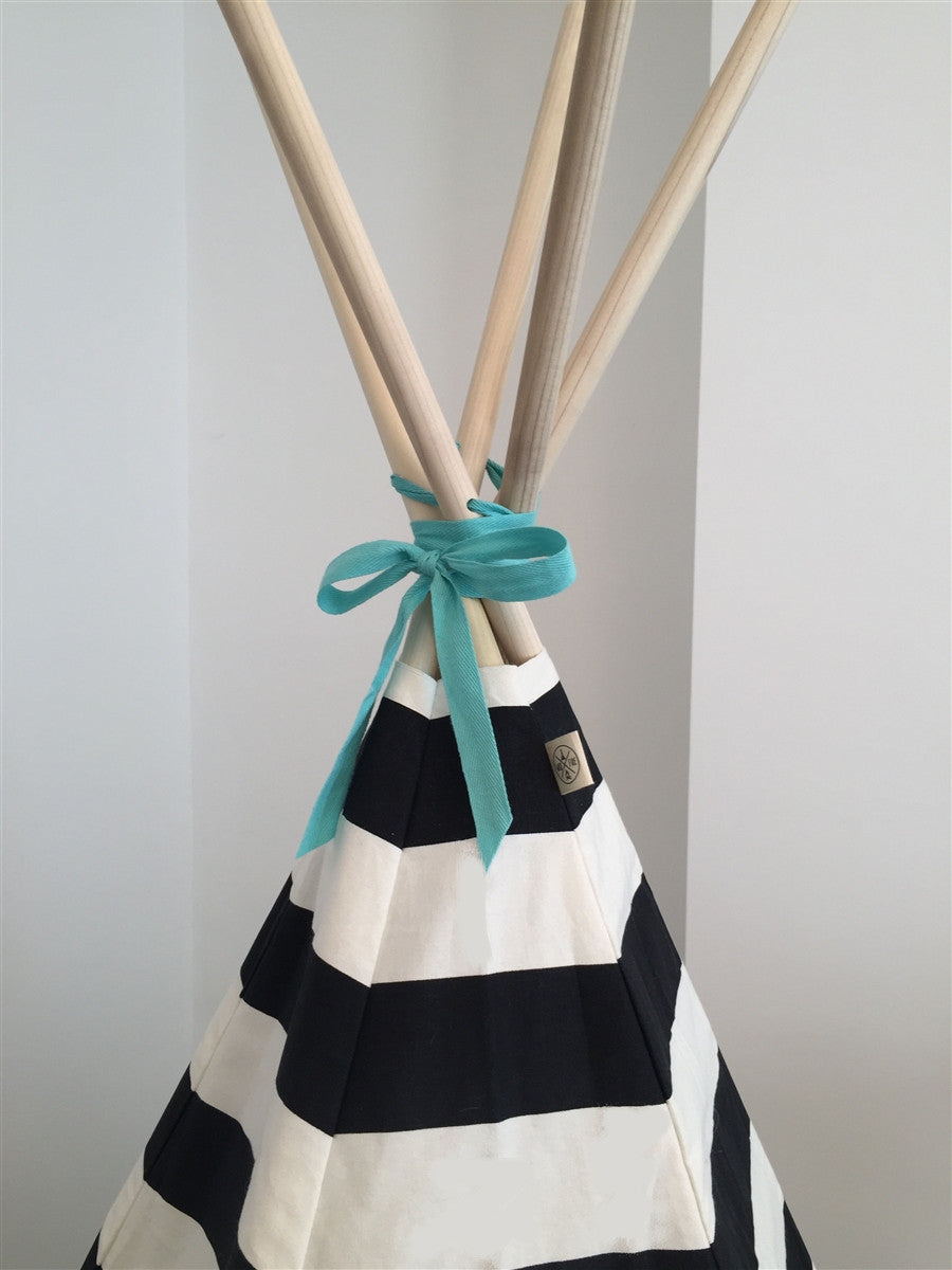Teepee Stripe with Aqua Trim by Wildfire Teepees | Shop Now