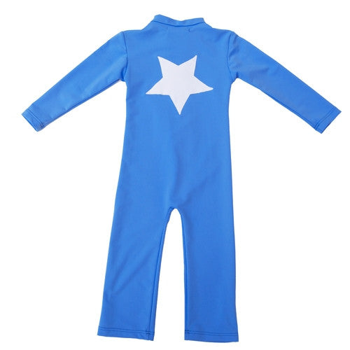 Petit Crabe UV Full Body Suit Blue Star