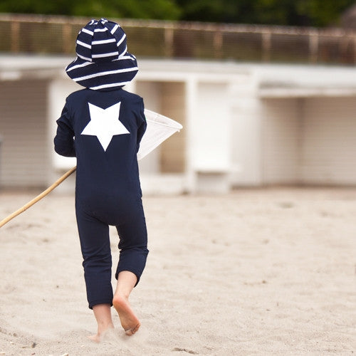 Petit Crabe UV Full Body Suit Navy Star