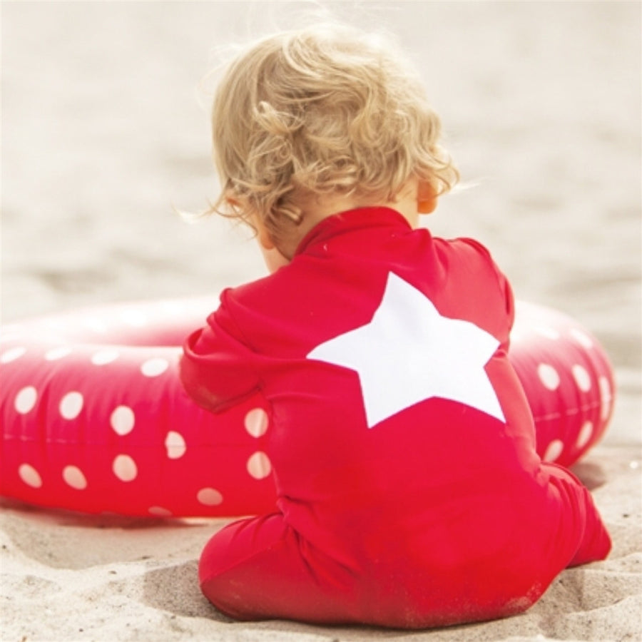 Petit Crabe UV Full Body Suit Red Star