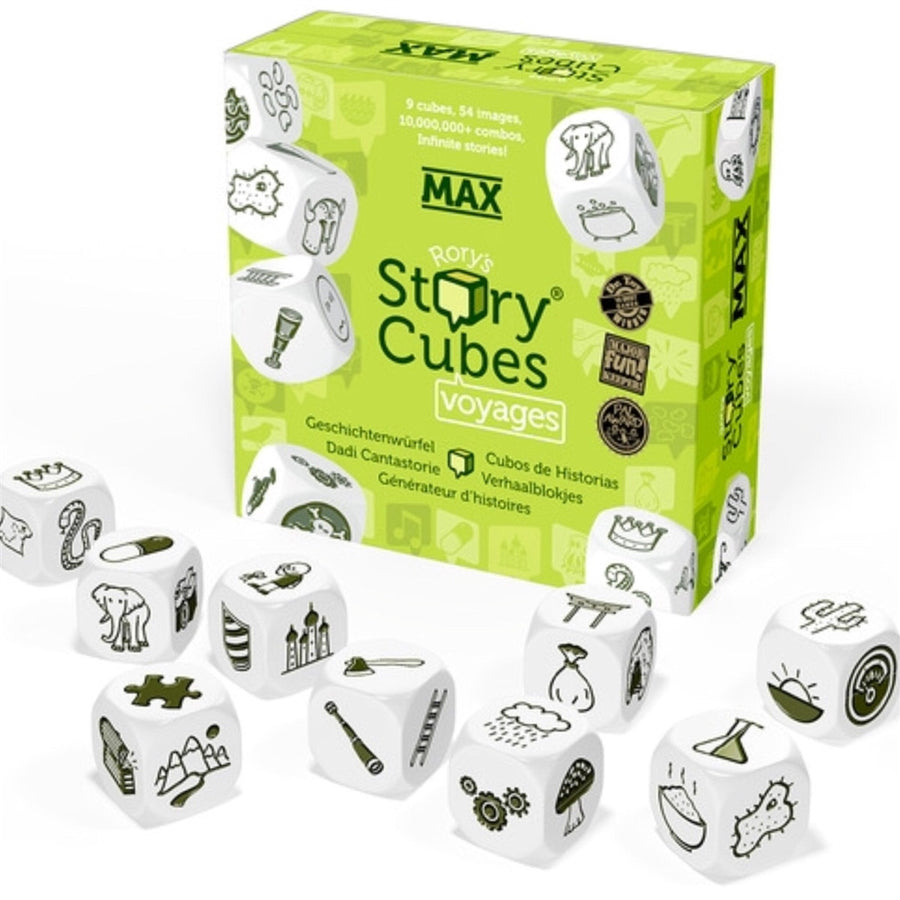 Voyages Story Cubes,Game,RORYS CUBES - Snowballs and Sandcastles