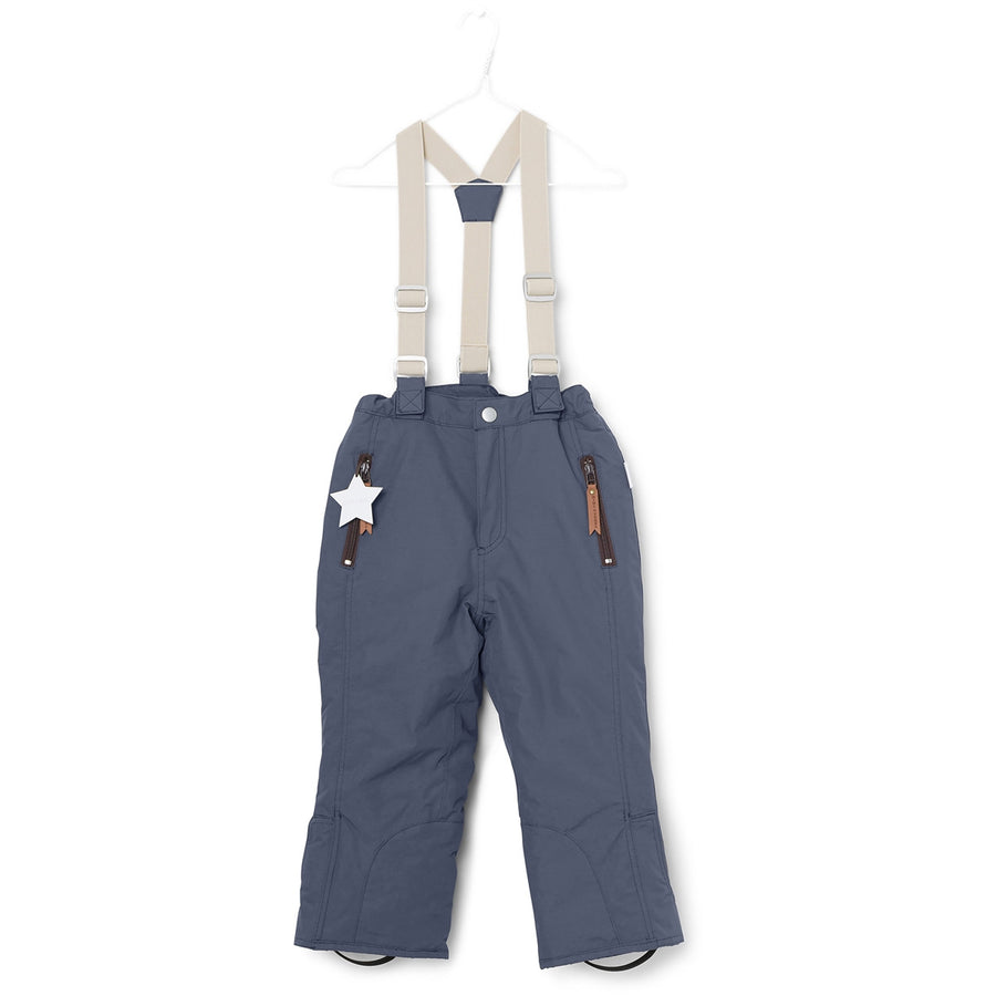 Mini A Ture Kids Ski Pants | Witte Ombre Blue