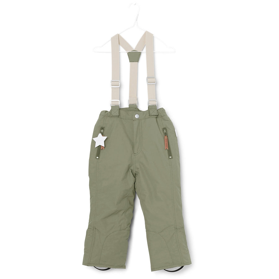 Mini A Ture Kids Ski Pants | Witte Green
