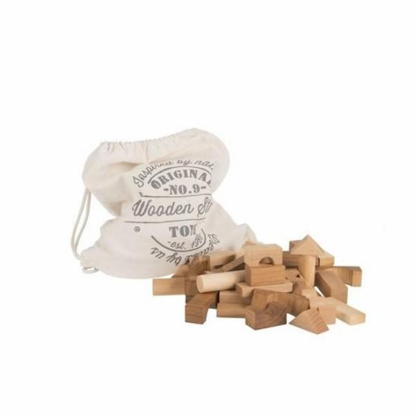 Natural Wooden Blocks,Wooden Blocks,Wooden Story - Snowballs and Sandcastles