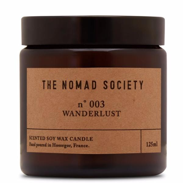 Wanderlust travel candle by the Nomad Society