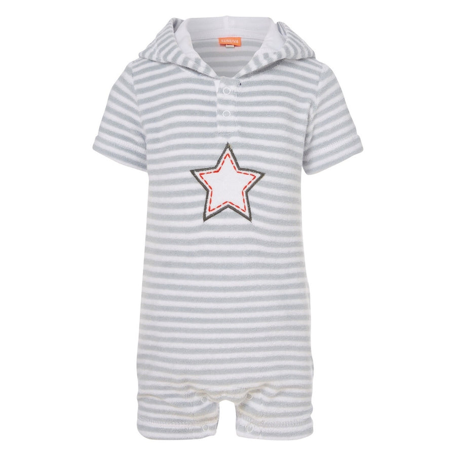 Star Towelling Onesie,,SUNUVA - Snowballs and Sandcastles