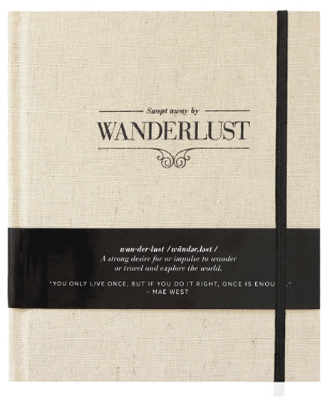Wanderlust travel journal by Axel and Ash
