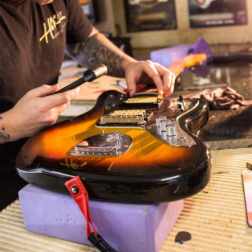 Harron Custom Guitars repairs parts and guitar customization