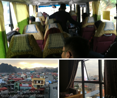 Bus from Hanoi Haiphong to Cai Rong Cam Pha Vietnam
