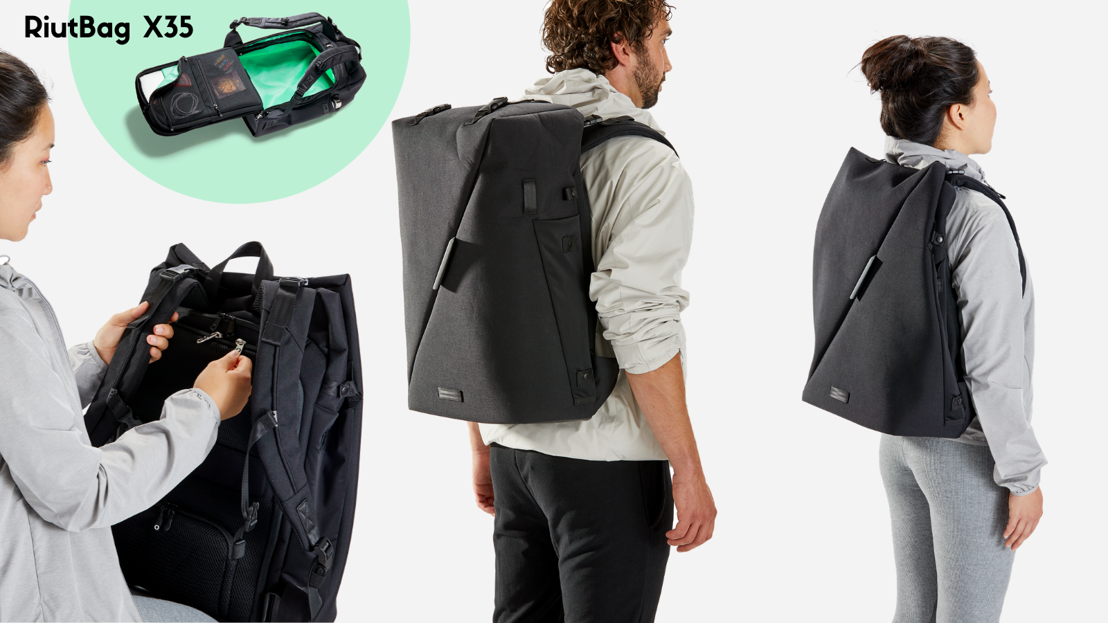 """Black Friday 2020 backpack deal RiutBag X35 extra large 15.6"""" laptop"""